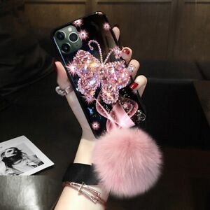 Glitter Butterfly Diamond Phone Case Cover For iPhone 11 12 Pro Max 6s 7 8 XS XR