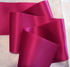 "4"" WIDE SWISS DOUBLE FACE SATIN RIBBON- BEAUTY - HOT PINK"