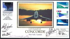 BA CONCORDE FINAL Cpt BANNISTER/DOUGLAS/BAILLIE+HAZELBY SIGNED COVER_NY-LON-#1/1