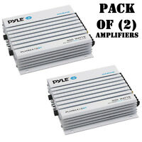 Pack of (2) Pyle PLMRA410BT 400W 4 Ch. Elite Bluetooth Marine Yacht Amplifiers