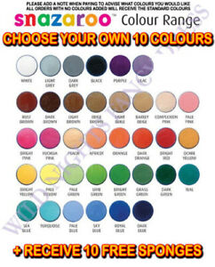 SNAZAROO Face Paints + FREE Sponges 5 or 10 Pack Choose from 38 colours