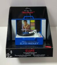 Elvis Presley Vinyl Record Player Christmas Ornament Plays Blue Hawaii 2018