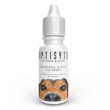 Optisyte Lanosterol & NAC Eye Drops Promotes Eye Clarity in Pets w/ Cataracts