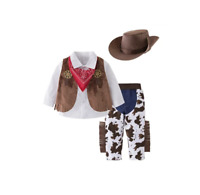 Kid Boys Halloween Cowboy Costume 5pcs Set Cosplay Event Dress Up Outfits