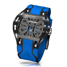 Blue Sports Watch Limited Edition Wryst Elements PH7 Swiss Made With Black DLC
