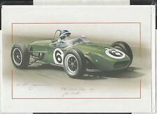JIM CLARK LOTUS CLIMAX 18 PAU GP 1961 NEW ART PRINT GREETING GIFT BIRTHDAY CARD