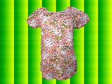 G195 Romantik Country Look Tunika Shirt mit mille fleur Blumendruck Gr. 36