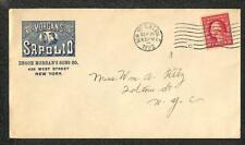 USA #499 STAMP NEW YORK ENOCH MORGAN'S SONS SAPOLIO SOAP ADVERTISING COVER 1922