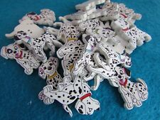 27mm-20mm Childrens Wooden 101 Dalmatian Dog Buttons 2 Hole Packs of 2, 5 or 10