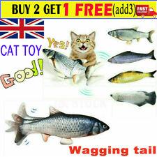 Electric Wagging Moving Cat Fish USB Interactive Pet Toy Plush Catnip Fish HH UK