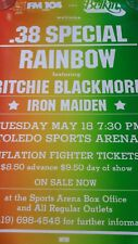 38 Special & Rainbow & Iron Maiden  5/18 Promo Poster14x22 WHILE SUPPLIES LAST!