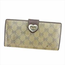 GUCCI Purse Wallet  Crystal GG Ladies Authentic Used T5606