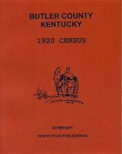 Butler County KY 1920 Census Book on CD, Entire Family, Occupations, Genealogy