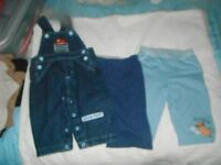 DUNGAREES AND TROUSERS AGE 3-6 MONTHS