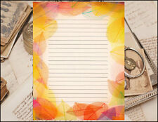 Autumn Leaves Bordered Lined Writing Paper Set