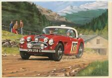 Austin Healey 3000 Coupe des Alpes Rally Racing Car Blank Birthday Card