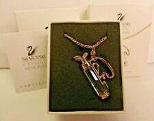 Swarovski Crystal Memories Necklace Golf Clubs Gold Plated In Box 20.5""