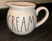 NEW Rae Dunn CREAM Creamer Pitcher Large Letter Artisan Collection By Magenta