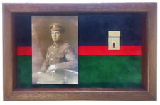 Large Royal Welsh Medal Display Case With Photograph For 2 Medals