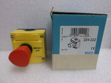 LBX17302 - Emergency Stop Mushroom Button, Complete, 2 Break Contacts (NC), IP66