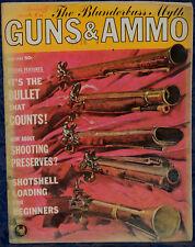 Vintage Magazine GUNS & AMMO July, 1962 !BLACKPOWDER Double RIFLE! *BLUNDERBUSS*