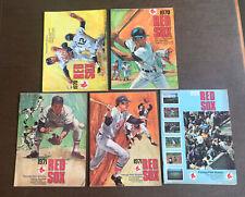 Lot Of 5 Boston Red Sox Baseball Game Programs 1970 1971 1973