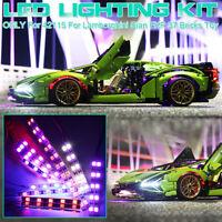 DIY USB LED Licht Beleuchtung Kit Für LEGO 42115 Für Lamborghini Sian FKP 37 Car