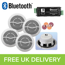 Compact Bluetooth Amplifier & Ceiling Speakers Home HiFi, Bathroom, Kitchen