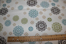 New White Medallion Fabric Cotton Quilting Sewing Fabric By the 1/2 Yard :)