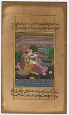 Indian Mughal Harem Moghul Handmade Water Color Paper Miniature Ethnic Painting