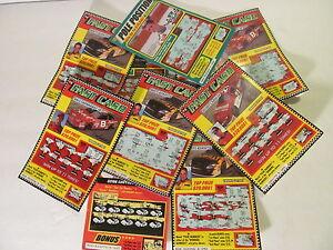 Lot of 10 Virginia Nascar Lottery Tickets. Very Unique Nascar Collectibles.