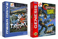 Probotector contra Sega Mega Drive Genesis Game Box Case + Housse Art Work Nogame
