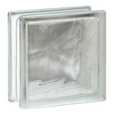 "7.75"" x 7.75"" x 3.12"" Wave Pattern Glass Block 10 Pack 1.89 RValue In Or Outside"