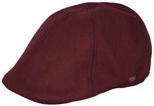 Men's Thick Newsboy Wool Cap, Winter Duckbill Plain Ivy Pub Hat Everyday Cap