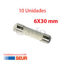 10X Fusible Ceramica 6X30 mm 8A 250V. Pack 10 Fusibles