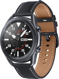 Samsung Galaxy Watch 3 SM-R840 mystic black 45mm Tizen Edelstahl Leder AMOLED