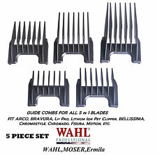 Wahl Attachment GUIDE Clipper/Trimmer Comb 5pc SET for CHROMADO,PRO PET,Figura