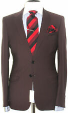 "BNWT MENS PAUL SMITH ""PS"" BURGUNDY CLASSIC SLIM FIT SUIT 40R W34"