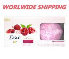 Dove Milk Swirl Bath Bombs Vanilla Raspberry Creamsicle 2 Ct 5.6 Oz WORLD SHIP