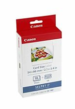 Canon KC-18IF Ink/Paper Set (18 x Credit Card size lables) for the SELPHY CP ser