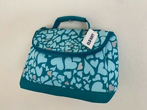 NWT OLD NAVY Green Lunch Bag Baby Blue Pink Heart