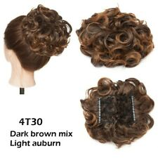 Comb Clip In Curly Hair Extension Synthetic Hair Pieces  Updo Cover HAIR BUN