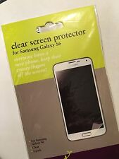 Samsung Galaxy S6 Twin Pack Screen Protector Guards in Clear SSGGS6STD Brand New