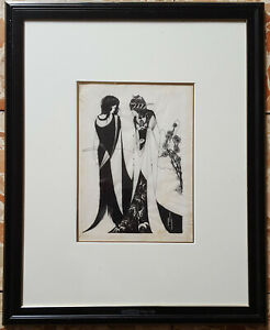 Aubrey Beardsley signed pen and ink British 1896