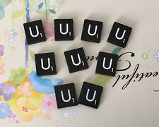 10 (TEN) Letter U, Black  Scrabble Tiles Letters, Individual, A to Z in Stock!
