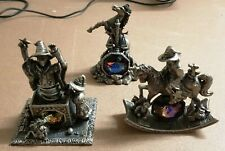 More details for 3x pewter tudor mint myth and magic figurines by a g slocombe