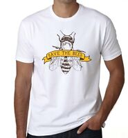 SAVE THE BEES T SHIRT NATURE FOREST BEE KEEPER ENVIRONMENT CLIMATE CHANGE