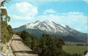 Carbondale CO Mt Sopris Overlooking Crystal & Roaring Fork Valleys Postcard