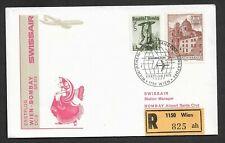 Flugpost-Österreich-Swissair Erstflug-Wien--Bombay-