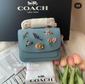 NWT COACH Madison Shoulder Bag 16 With Floral Embroidery C3480